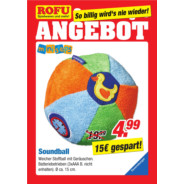 "ROFU Kinderland Prospekt: ""Aktion: Soundball im Angebot - 4,99 €"""