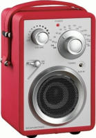 Scansonic PA 680 tragbares Radio, FM/AM, rot