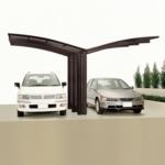Ximax Carport »Portoforte 110 Y-Ausführung« Mattbraun