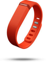 fitbit FLEX Aktivitäts- und Schlaf-Armband Orange NEU OVP gegangene Schritte