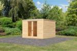 Karibu Gartenhaus »Cubus Front«, naturbelassen