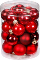 Weihnachtskugeln »Ruby Red-Mix« 45mm, aus Glas