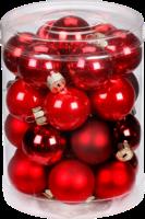 Weihnachtskugeln »Ruby Red-Mix« 30mm, aus Glas