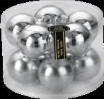 Weihnachtskugeln »Silber« 60mm, aus Glas
