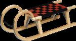 Hörnerrodel mit Gurtsitz