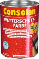 Consolan Wetterschutz-Farbe weiß 0,75 L