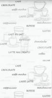 Vliestapete »Kaffee« weiß