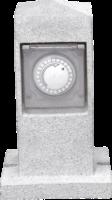 Steckdosen-Säule mit Zeitschaltuhr