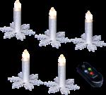 Kabellose Kerzen, 5er Set silber