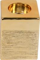 »Kerzenhalter« Gold, eckig