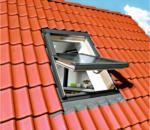 Durabil Holz Dachfenster 55x78 cm natur