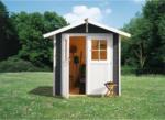 Karibu Gartenhaus »Smaland« 28 mm, terragrau