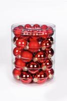 Weihnachtskugel »Ruby Red-Mix« 45 und 60mm, aus Glas