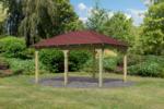 Karibu Holzpavillon »Merida« Massivholz kdi, im Set mit Schindeln