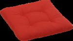 GO-DE Sitzkissen »Carina Rustico« 38x38 cm, rot