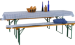 GO-DE Auflagen für Bierzeltgarnitur, 3 tlg., blau/weiß kariert