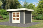 Karibu Gartenhaus »Multi Cube 3« 28 mm, Terragrau