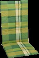 GO-DE Gartenstuhlauflage Hochlehner »Dessin 15155«, lime karo