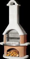 Grillkamin »Rhodos« Strukturbeton, weiß