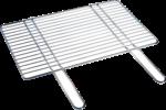 Grillrost Stahl verchromt, 54x34 cm
