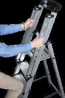 KRAUSE Stufen-Stehleiter »Sepuro« inkl. Handlauf, 8 Sufen