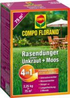 Compo FLORANID Rasendünger »4in1« mit Unkrautvernichter, 2,25 kg
