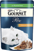 Gourmet Perle Erlesene Streifen mit Kaninchen 85g