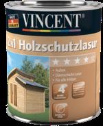 Vincent 2in1 Holzschutzlasur patinagrau 2,5 L