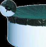Abdeckplane für Oval-/Achtform-Pools bis 610x375 cm