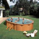Ovalpool-Set »Holzoptik«, 610x375x132 cm
