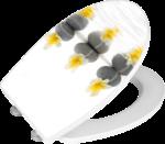 Wenko WC-Sitz mit Absenkautomatik »Stones & Flowers«