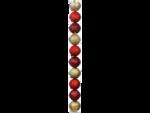 Weihnachtskugeln »Glimmer« 50mm, Rot/Gold