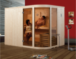 Weka Design-Sauna »514 GT Gr.2 OS« 68 mm, 9 kW Ofen