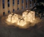 3 Acryl-Geschenke, 72 warm-weiße LEDs