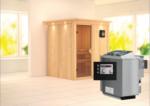 Karibu Sauna »Laurin« 68 mm, Bio-Ofen 9 kW externe Strg. mit Kranz