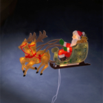 Konstsmide Fensterbild Rentier mit Weihnachtsmann