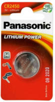 Panasonic Lithium Power Knopfzelle CR2450EL/1B, 3 V, 1 Stück