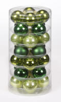 Weihnachtskugeln Grün-Mix, 45mm, aus Glas