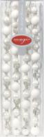 Kette Weihnachtsbaumkugeln Weiß, 220 cm
