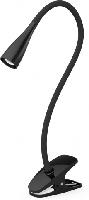 LED-Schwanenhalslampe-Klemmleuchte Anna, schwarz