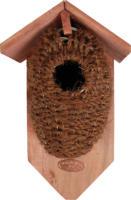 Kokos-Nestbeutel mit Holzdach