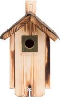 Nistkasten aus Fichtenholz mit Dachpappe, zwei Einfluglöcher