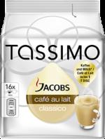 Jacobs Tassimo Caffè Au Lait Classico 184g, 16 Stück