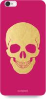"Caseez Back Case ""Skull Gold"" für Apple iPhone 6/ 6S Pink Kunststoff NEU OVP"