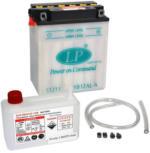 Landport YB12AL-A Motorrad Batterie mit Säurepaket, 12V, 12Ah