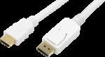 LogiLink Kabel DisplayPort auf HDMI, 2 Meter, Weiss