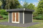Karibu Gerätehaus »Multi Cube 4« 28 mm, Terragrau