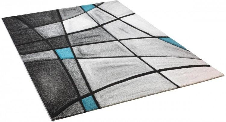 POCO Teppich Brilliance ca 80 x 150 cm grautürkis