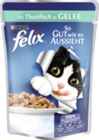 Nassfutter für Katzen, So gut wie es aussieht, Thunfisch in Gelee