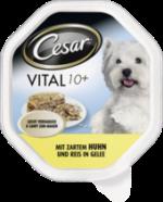 Nassfutter für Hunde, Vital 10+ mit zartem Huhn & Reis in Gelee